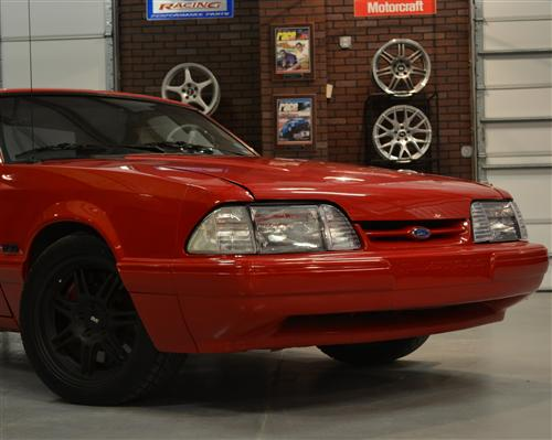 Fox Body Mustang Headlight Installation & Comparison (87-93) - Foxbody factory headlights with clear side marker